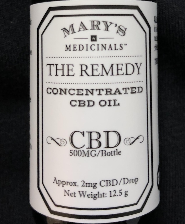 The Remedy – Cbd Tincture, 500mg – Med